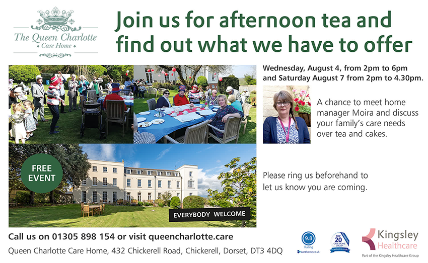 Join us for afternoon tea - August 4 and 7
