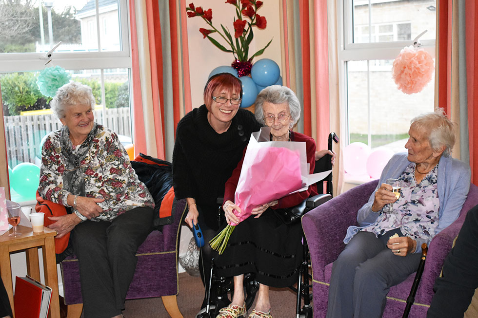 It's party time for Kathleen as she reaches 102