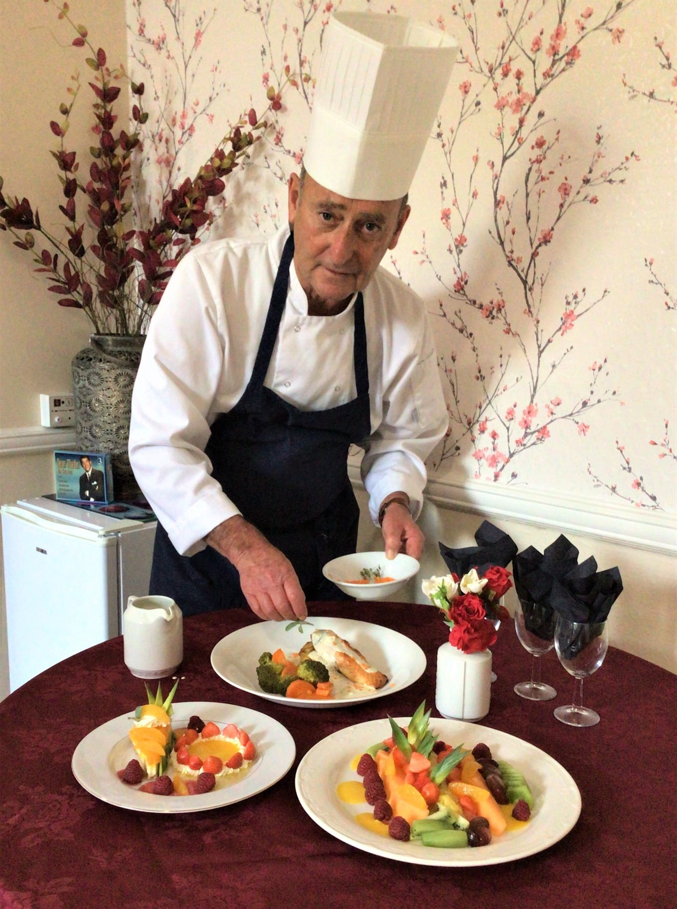Chef Douglas Hemlin at Sharston House