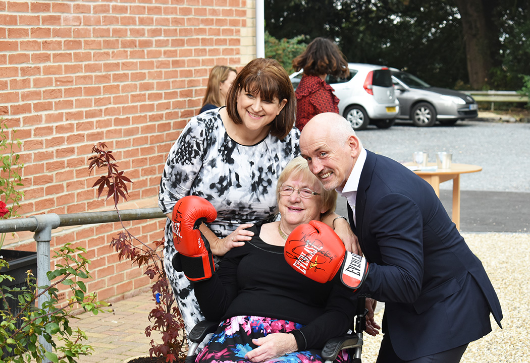 Boxing legend Barry McGuigan was the guest of honour at the grand opening of Hadleigh Nursing Home