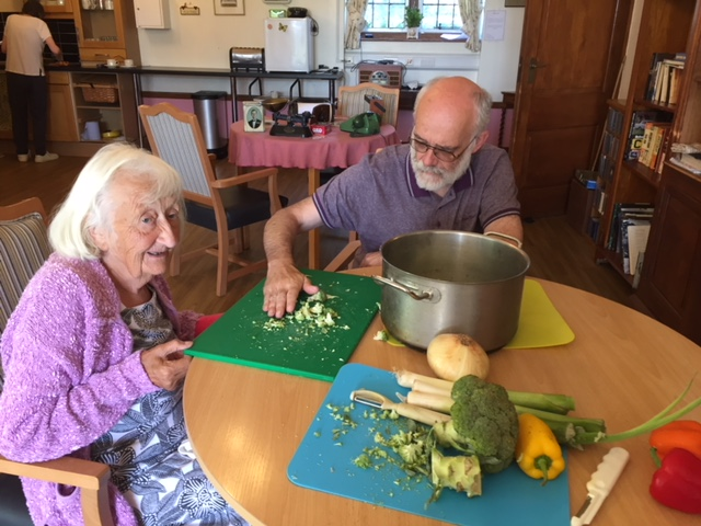 Brooke House near Norwich enjoyed soup they made from vegetables grown in the garden