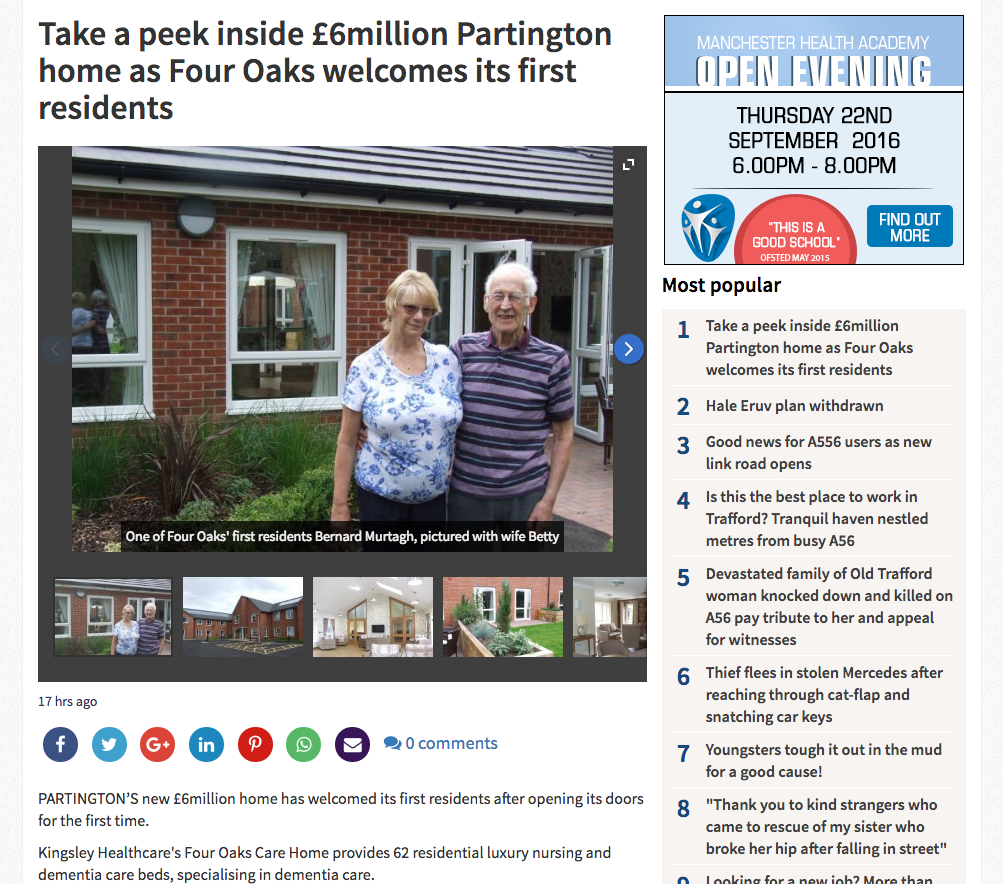 Take a peek inside £6million Partington home as Four Oaks welcomes its first residents