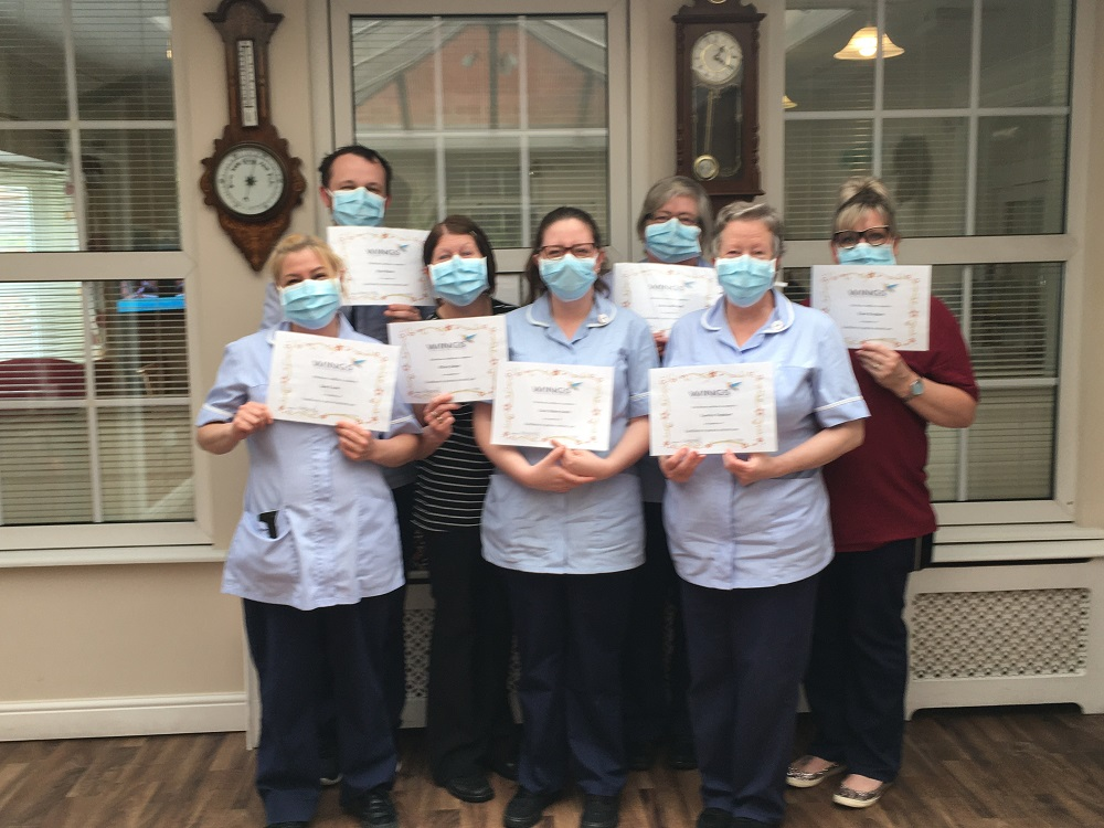 WINGS success for staff at Lilac Lodge