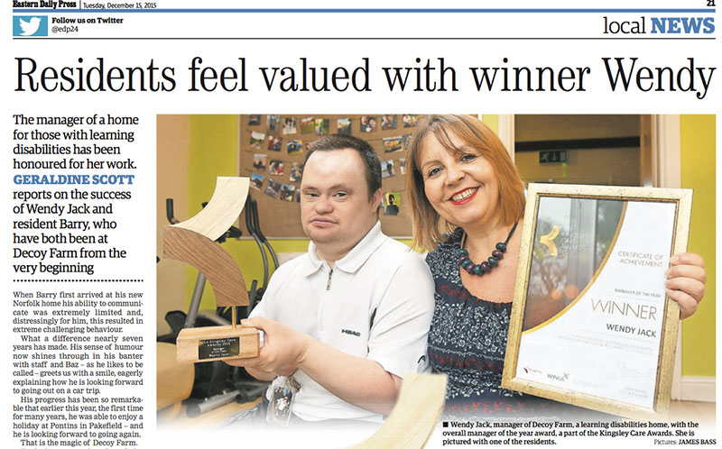 Residents feel valued with winner Wendy