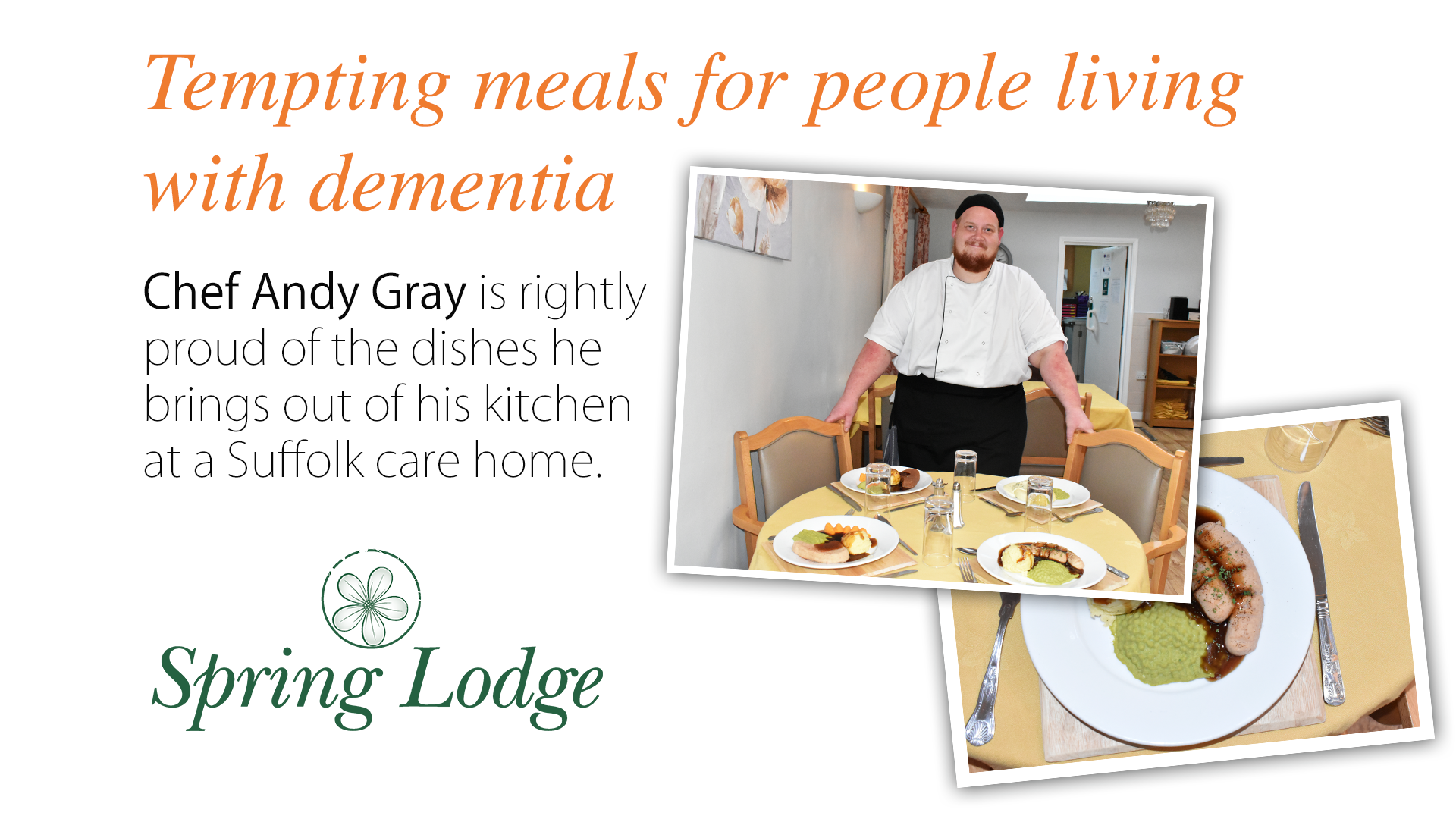 Tempting meals for people living with dementia who may have difficulty swallowing their food