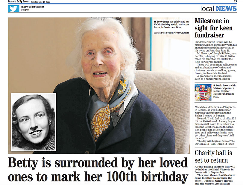 Betty is surrounded by her loved ones to mark her 100th birthday