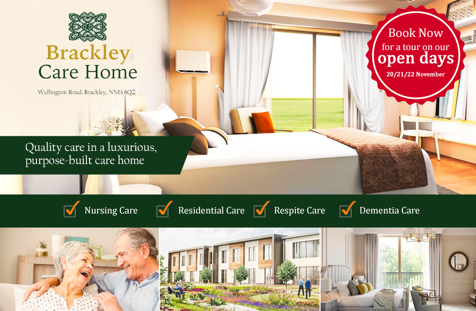Book your tour of our fabulous new Brackley Nursing Home