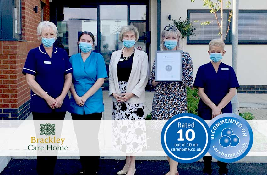 Brackley Care Home achieves perfect 10 review score