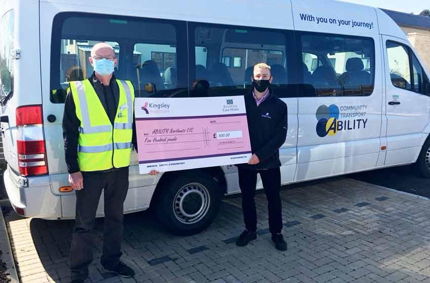 Brackley Care Home supports new community bus service