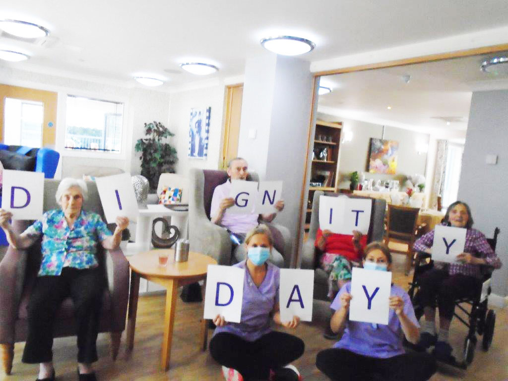 Branksome Heights spell out their support for Kingsley Dignity Day