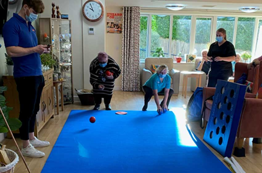 Branksome Heights staff and residents bowled over by new game