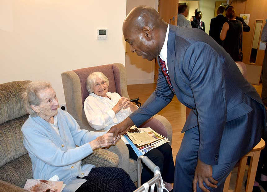 The boxing legend Frank Bruno MBE was our special guest at the official opening of Branksome Heights care home in Bournemouth