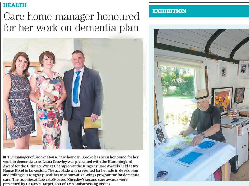 Care home manager honoured for her work on dementia plan