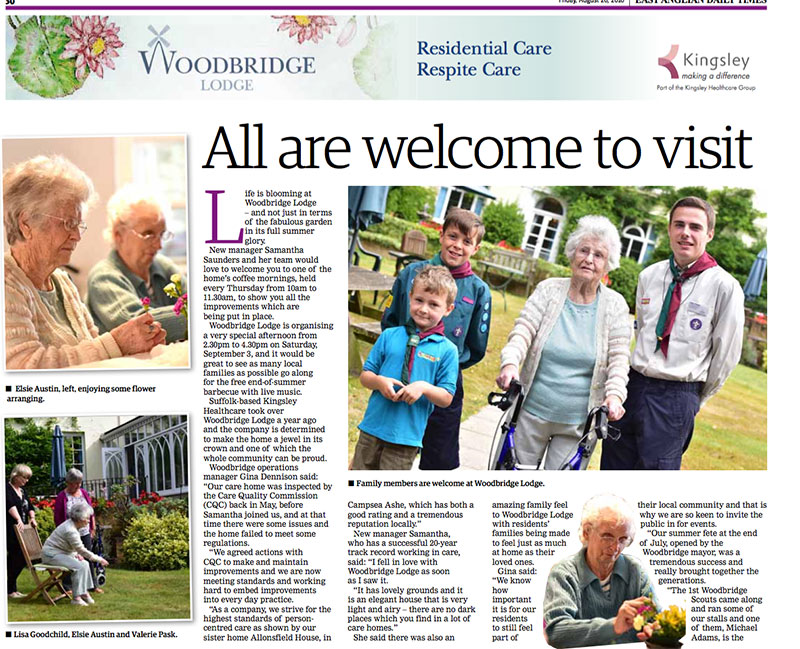 All welcome to visit Woodbridge Lodge
