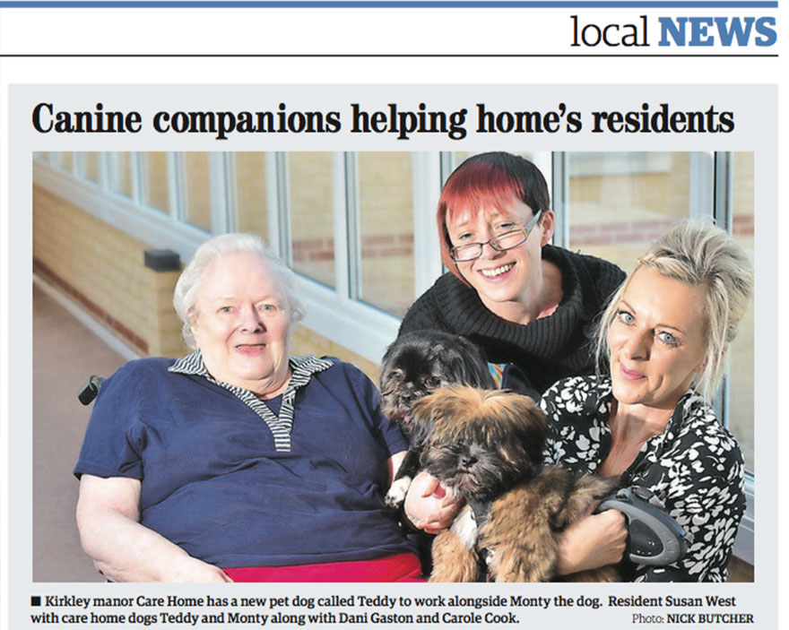 Canine companions helping home's residents