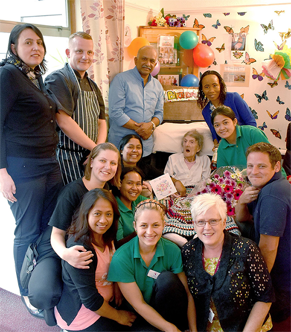 Kathleen Atthill celebrated her 104th birthday yesterday with her favourite tipple Bell's Whisky