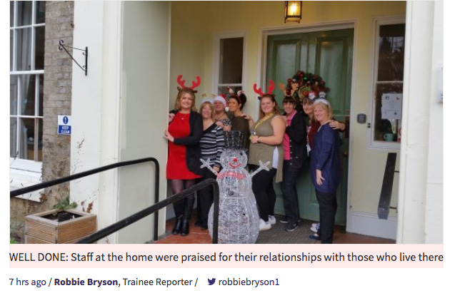 Colne House care home celebrates good rating from Care Quality Commission