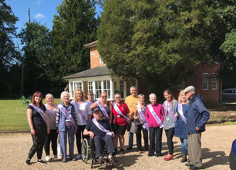 A 5 Kilometre sponsored walk involving staff, residents and relatives from Colne House care home in Earls Colne, Essex, raised about £400