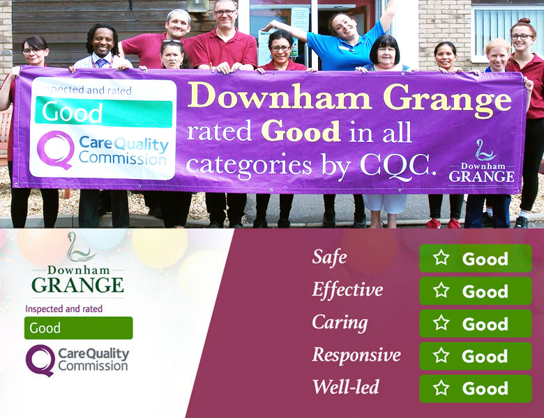 Downham Grange staff celebrate glowing CQC report that is good in every category