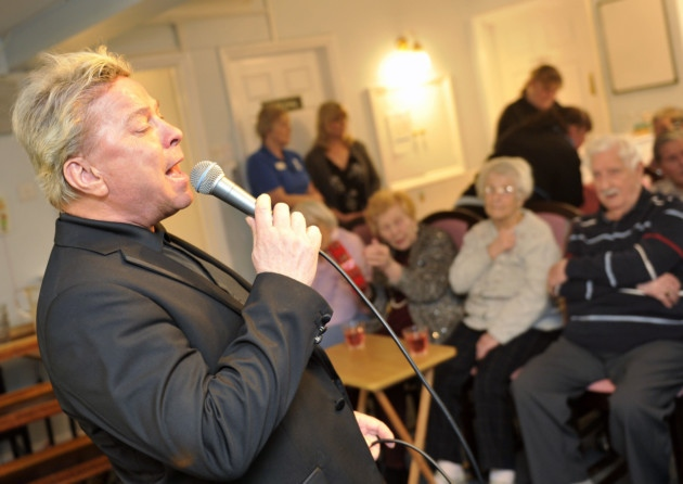 Singer David Van Day and wife Sue Moxley perform at three Suffolk care homes on Mother's Day