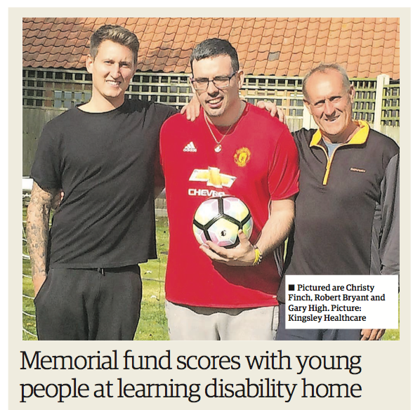 Memorial fund scores with young people at learning disability home