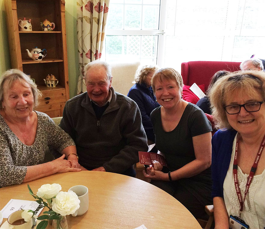 Lowestoft MP Peter Aldous attended the first of a new monthly drop-in event at Lilac Lodge care home