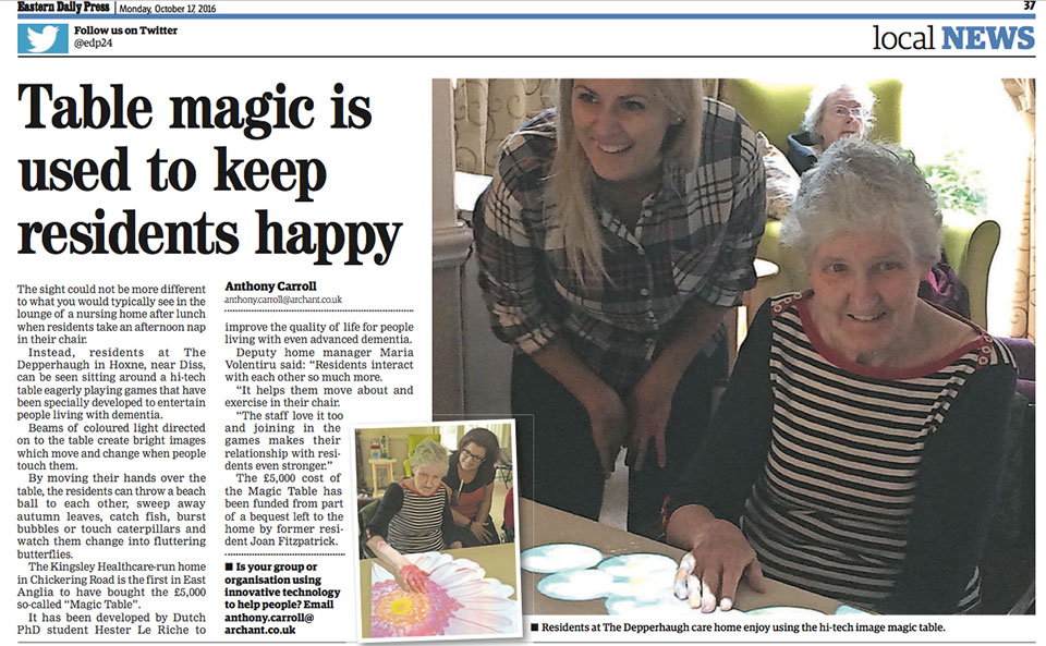 Table magic is used to keep residents happy