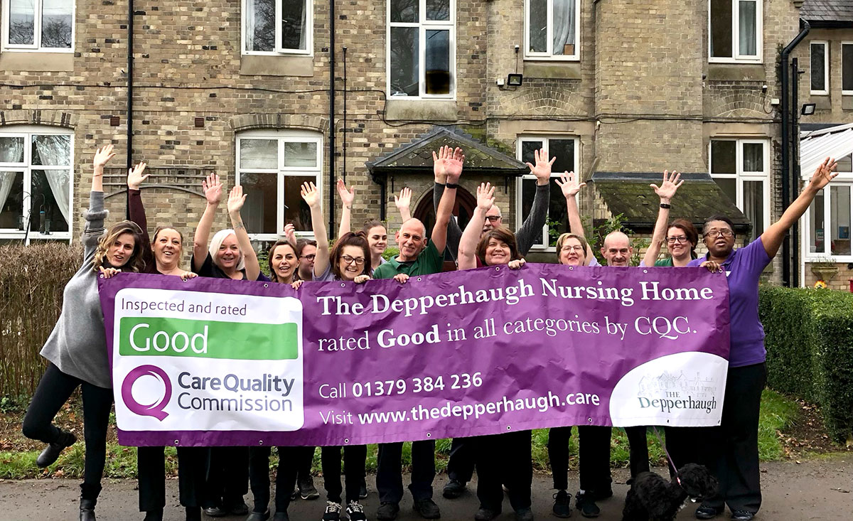 The Depperhaugh nursing home is celebrating their good Care Quality Commission (CQC)