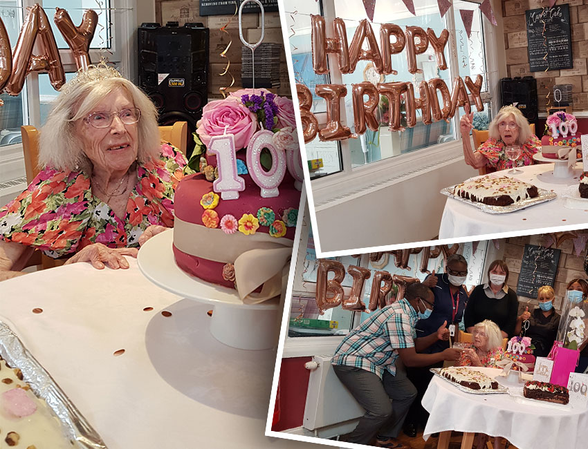 Doris celebrates her 100th birthday at The Willows nursing home