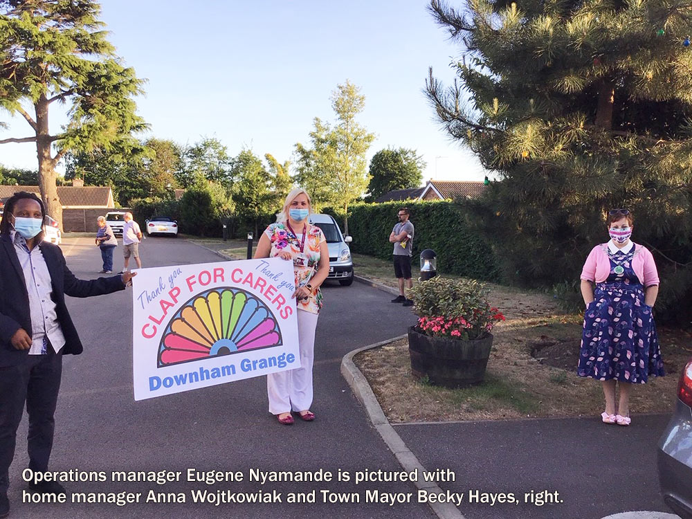 """Residents greet their families at Downham Grange """"drive by"""" event"""