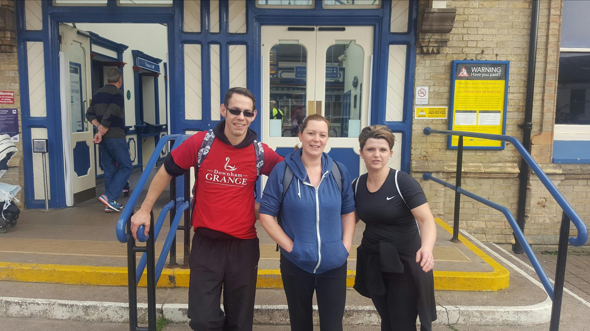 They made it – after four hours 30 minutes and 28,205 steps!