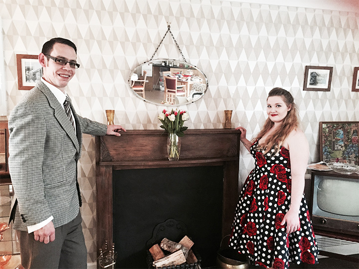 Staff at Downham Grange home dressed up 1950s style to unveil a new retro activities lounge