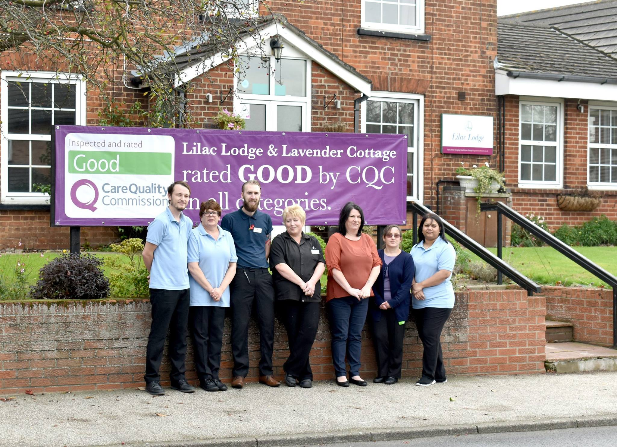 Staff at Lilac Lodge care home in Oulton Broad, are celebrating their GOOD Care Quality Commission report