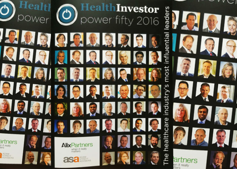 Kingsley Healthcare CEO Daya Thayan has made the top 15 of the prestigious HealthInvestor Power 50 awards