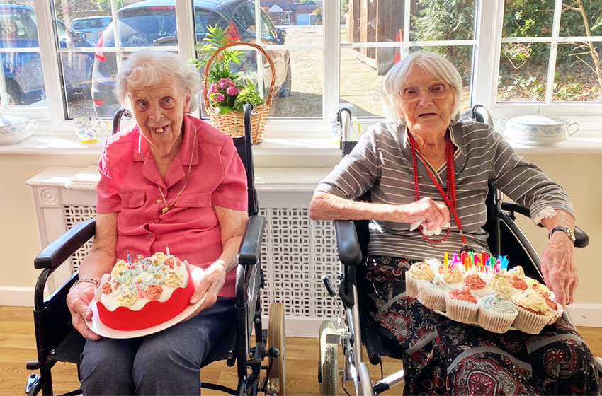 Friends who are 103 and 96 celebrate birthday together