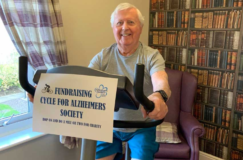 Cycling mad care home resident leads Dignity Action Day challenge