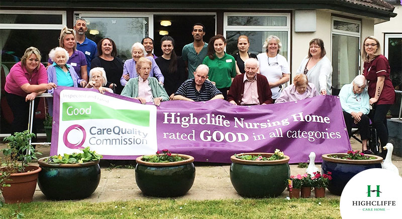 Staff at Highcliffe Nursing Home are proud of their glowing Care Quality Commission inspection report