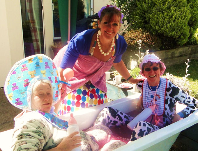 There was a sticky ending for two members of staff at Highcliffe Nursing Home – but it was worth it for charity