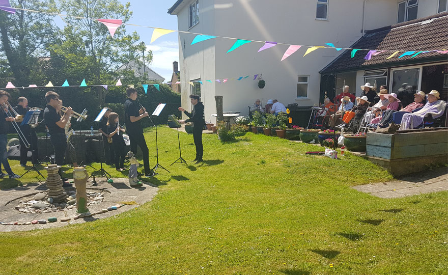 Young musicians from Christchurch Music Centre (CMC) visited Highcliffe Nursing Home for a concert to thank staff & residents