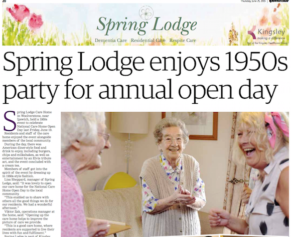 Spring Lodge enjoys 1950s Party for annual open day