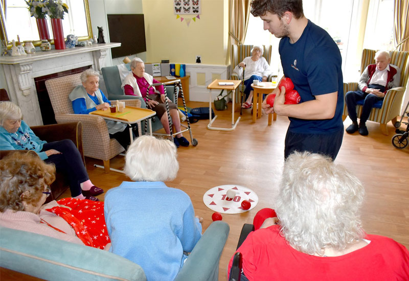 Welcome to the Care Home Olympics at Kirkley Manor