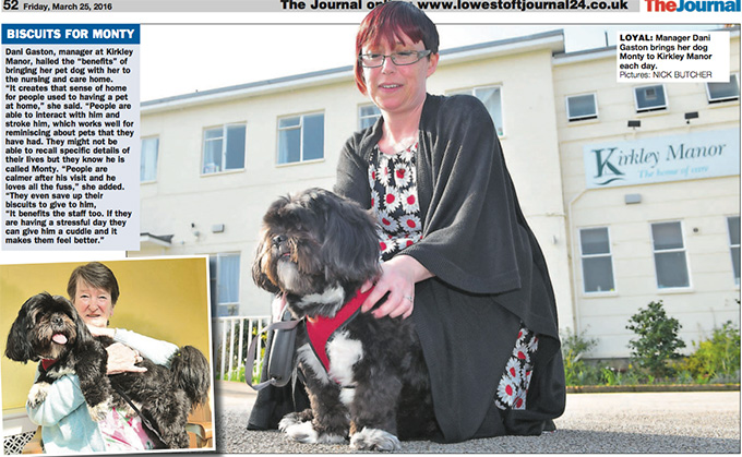 Monty proves a hit at care home