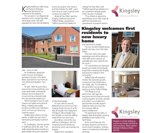 Kingsley welcomes first residents to new luxury home