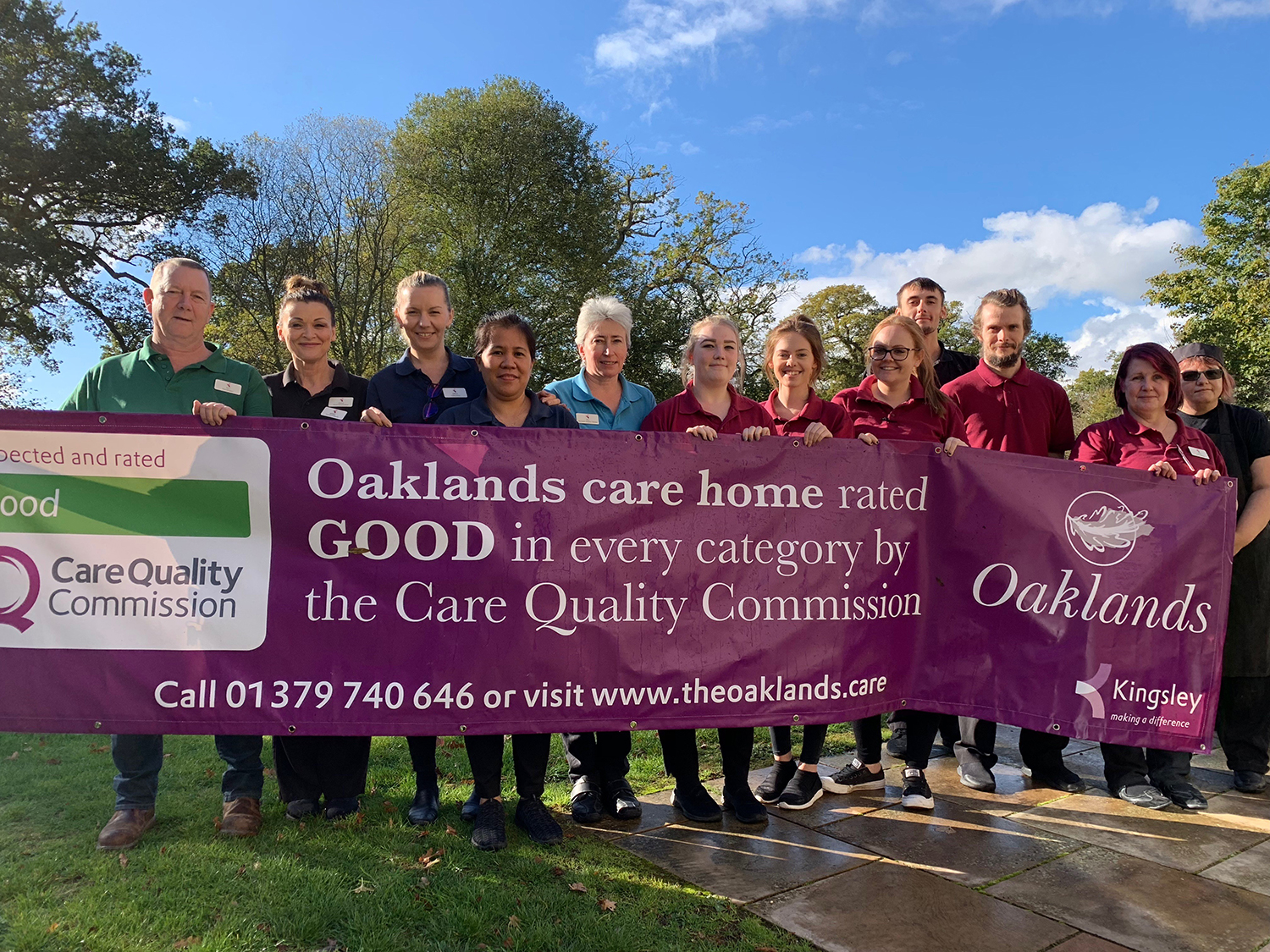 Oaklands staff celebrate the good CQC report.