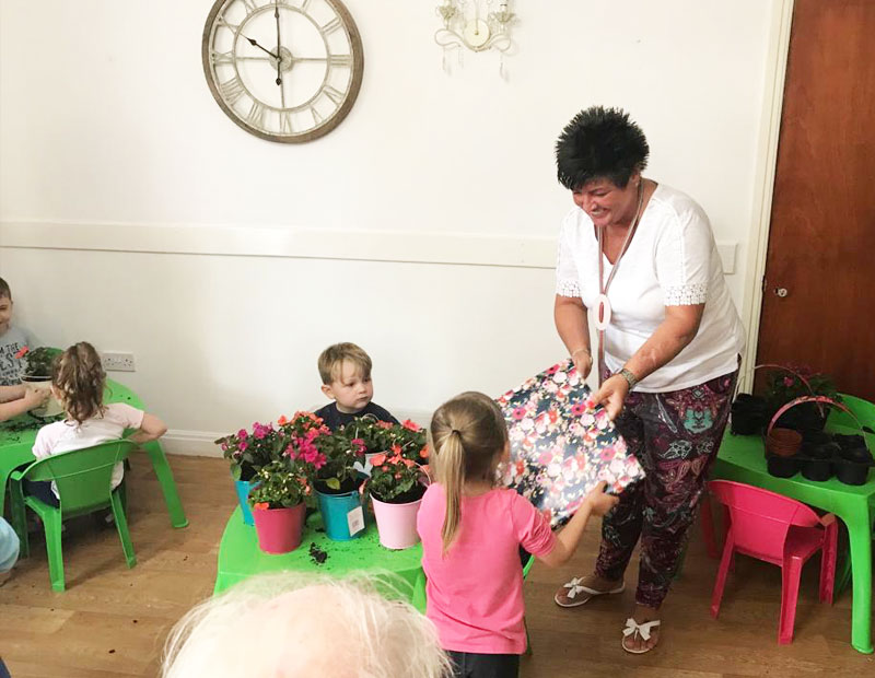 A gardening project has brought the generations together at Park Lane care home in Congleton