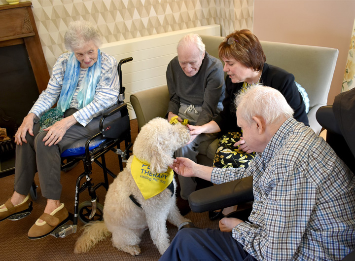 The dynamic new management team at Downham Grange care home has really given residents paws for thought