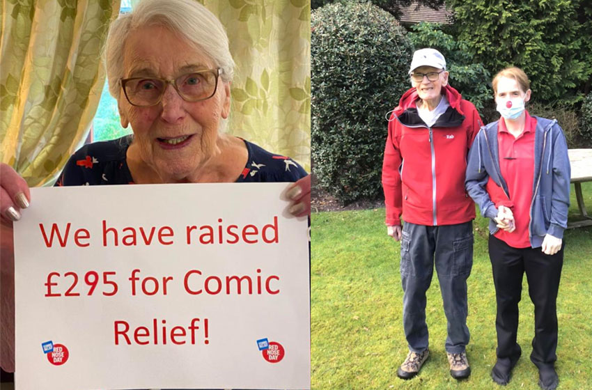 Captain Tom inspires Northwich home in Comic Relief effort