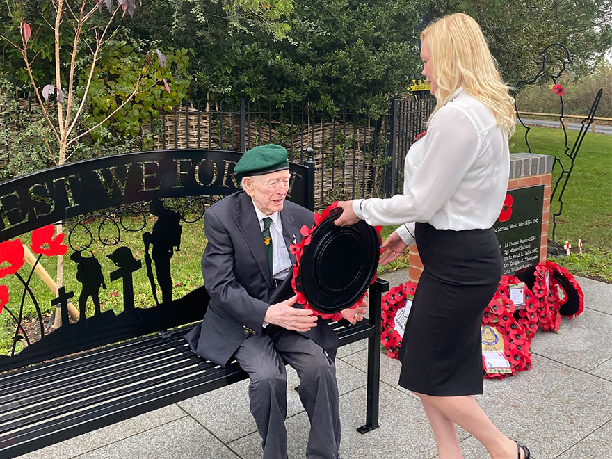 Nursing home resident becomes guest of honour at Remembrance service