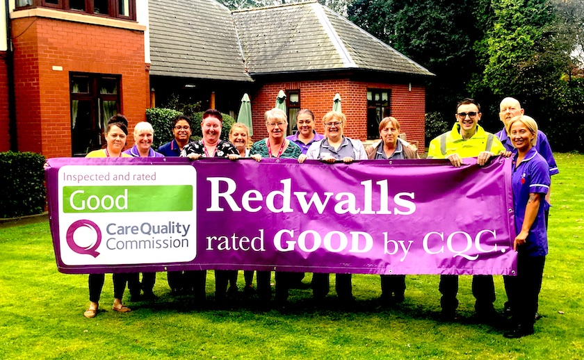 Staff at Redwalls Nursing Home, in Weaverham Road, Sandiway, are proud of their Good Care Quality Commission (CQC) report