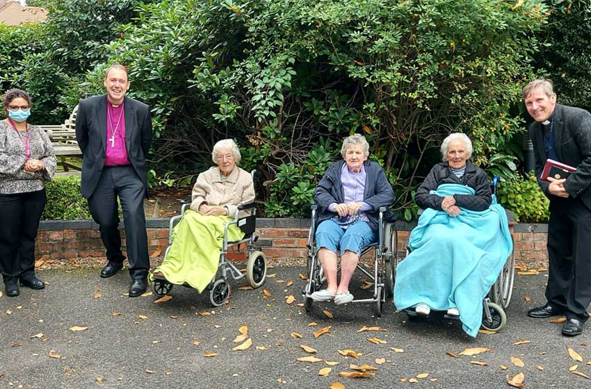 Sharston House delighted to host visit by Bishop